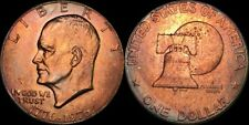 1976 EISENHOWER ONE DOLLAR COLOR TONED COIN IN HIGH GRADE !!!