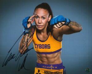 CRIS CYBORG - MMA Autographed Original 8x10 Photo LOA TTM