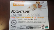 Frontline TRITAK Flea & Tick for dogs 4-22 lbs Yellow 6-dose NEW IN BOX