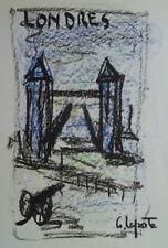 Georges LAPORTE (1926-2000) Technique mixte/papier Londres P1808