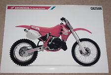 1989 HONDA CR250R VINTAGE MOTORCYCLE POSTER 25x36