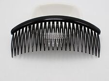 8 Black Plastic Large 24-Teeth Hair Clips Side Combs Pin Barrettes 128mm