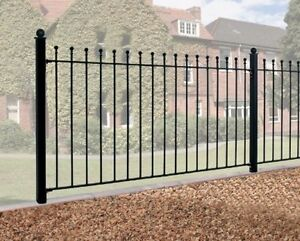 WROUGHT IRON METAL FENCING PANEL Viking 6ft (1830mm)