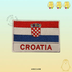 Croatia National Flag With Name Embroidered Iron On Sew On Patch Badge