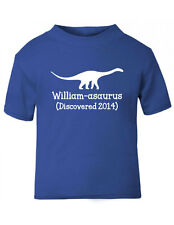 Personalised Dinosaur Discovered Baby/Kids' t-shirt, 3-6mths to 5-6 years