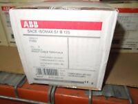 ABB SACE S1 S1B S1B125R125 125A 3P 500VAC / 250V DC Circuit Breaker New Surplus