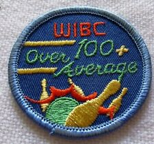 "Vintage 1980""s WIBC 100+ OVER AVERAGE Bowling Patch MINT Never Used."