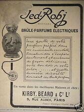 PUBLICITÉ 1919 JED-ROBJ BRÛLE-PARFUMS ÉLECTRIQUE - ADVERTISING
