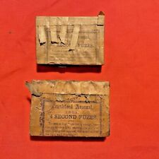 Original Civil War 1863 Frankford Arsenal 4 Second & 30 Second Cannon Fuses Fuze
