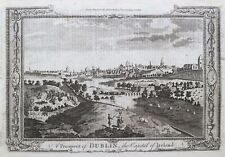 1784 Original print; A Prospect of Dublin, Ireland