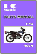KAWASAKI Parts Manual F7 F7-C F7C 1974 Replacement Spares Catalog List