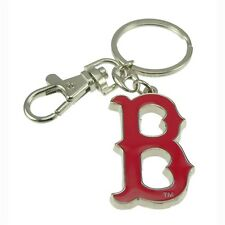 MLB Boston Red Sox Sports Baseball Heavyweight Keychain Key Holder Tag Ring NEW