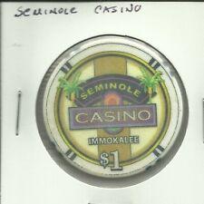 $1 SEMINOLE CASINO  CHIP- FLORIDA**