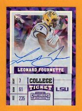 LEONARD FOURNETTE 2017 CONTENDERS CRACKED ICE AUTOGRAPH ROOKIE # / 23 LSU JAGS