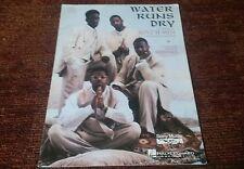 Water Runs Dry by Boyz II Men piano vocal guitar sheet music NEW