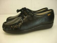 SAS Women's 6.5 WW EW Extra Wide Siesta Black Leather Shoes Comfort Lace-Up USA