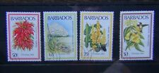 Barbados 1984 Christmas Flowers set Used