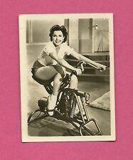 Ann Miller Exercise Bike Vintage 1950 Greiling Movie Film Star Cigarette Card