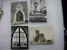 4 X Postcards of Guildford Cathedral  Blak and white.