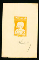 Austria Stamps 3K Essay 3K Signed by Designer Yellow Design Rare