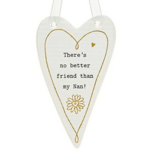 Thoughtful Words Plaque : There's No Better Friend Than My Nan