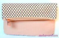 IPSY TRES JOLIE March 2017 Makeup Glam Bag Pink Fold-Over Cosmetic Case Pouch