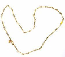 18K Yellow Gold Italian Link Chain 16 Inch Long 6.28 Gm Free Shipping