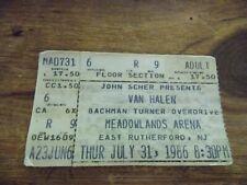 Van Halen w/Bachman Turner Overdrive 5150 Tour July 31, 1986 Ticket Stub
