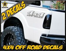 4x4 OFFROAD Truck Bed Decal Set METALLIC SILVER for Ford Super Duty F-250 F-150