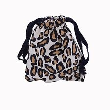 Jax Jacks & Ball Metal Classic Game in Leopard Striped Print Cloth Carry Bag