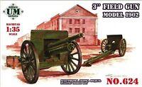 3 INCH FIELD GUN, MODEL 1902 UNITED STATES WWI 1/72 UNIMODEL UMT 624