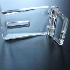 2 x Acrylic Hinged Hasp and Staple Hasps, Plastic 52x25x15mm.Tanks, Displays
