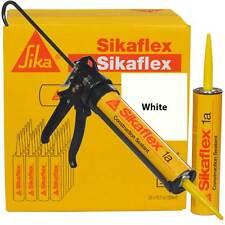 Sikaflex 1A Polyurethane Sealant, 10.1 oz, 24 Pack, Pro Caulk Gun, WHITE