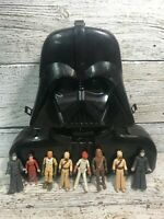 Vintage Star Wars 1980 Darth Vader Case with Original Action Figures