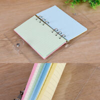 50pcs A6 6-Hole Ruled Loose Leaf PaperPlanner Note Book Filler Paper Diary Book