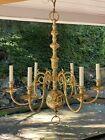 "Virginia Metalcrafters Era Brass Chandelier Colonial Williamsburg Apothecary 28"""