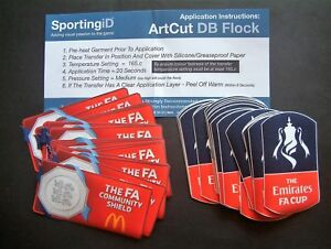 """PATCH UFFICIALI """"THE EMIRATES FA CUP&THE FA COMMUNITY SHIELD"""" OFFICIAL PATCHES"""