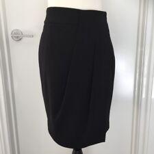 WITCHERY Women's Size 6 Black Wrap Look Style Skirt Above Knee EUC