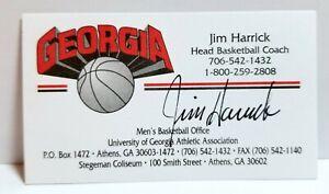 University of Georgia basketball coach Jim Harrick signed business card