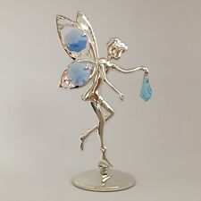 """SWAROVSKI CRYSTAL ELEMENTS """"Fairy"""" FIGURINE - FREE STANDING SILVER PLATED"""
