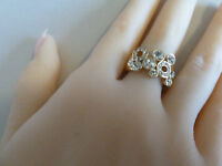 22k Gold ring (plated)CZ  Size: 5, 6, 6.5, 7, 7.5 womens jewellry brand new, NWT