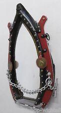 Antik hochw. Moderner KUMMET Pferdespiegel Spiegel Wandspiegel 76x46x18cm RAR