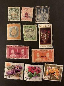 L6/112 Brirish Niue Stamps Set Of 11 M/U/H/NH Very Nice Coll