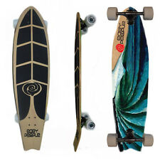 Easy People Longboards FT-1 Pintail Swallowtail Longboard Complete Deck Oceans