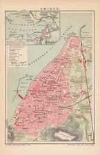 SMYRNA Izmir Türkiye Türkei alter STADTPLAN um 1907 MAP