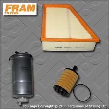 Kit de servicio para Seat Ibiza (6L) 1.9 TDI Fram Aceite Filtros De Combustible Aire (2002-2005)