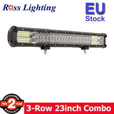 7D 22-23inch 324W TRI ROW LED Work Light Bar 4WD Car Truck SUV ATV Driving Lamp