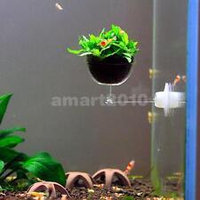 Aquatic Live Plant Growing Pot Bowl Holder w/ Suction Cup for Aquarium Fish Tank