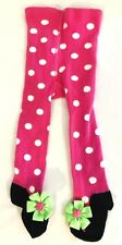 Mud Pie Infant Girls Pink and White Polka Dot Shoe Tights 0-6 months