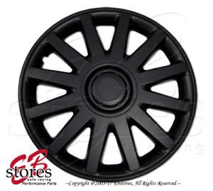 "One Set (4pcs) of Matte Black 17 inch Rim Wheel Skin Cover Hubcap 17"" Style#610"